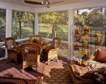 Dishy Sun Porch Furniture with High Ceilings
