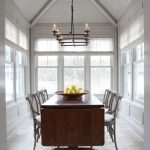Chicago travertine colors Dining Room Traditional with home stagers sunroom shades
