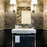 Sydney taupe and grey Powder Room Traditional with kitchen bathroom remodelers living room wallpaper