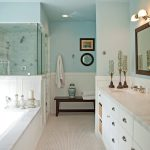 Los Angeles carrera bathroom Bathroom Traditional with kitchen and designers blue