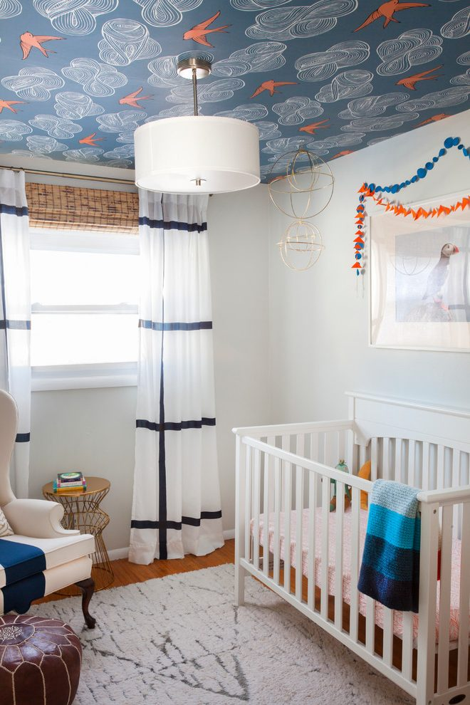 Philadelphia ikea aina curtains Nursery Transitional with house cleaning services picture decoration