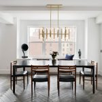 New York Cheap Apartment Decor Dining Room Contemporary with kitchen and bathroom designers dining table decor ideas6