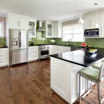by Clean Design golden oak cabinets New York Kitchen with stone and countertop manufacturers showrooms wood floor color