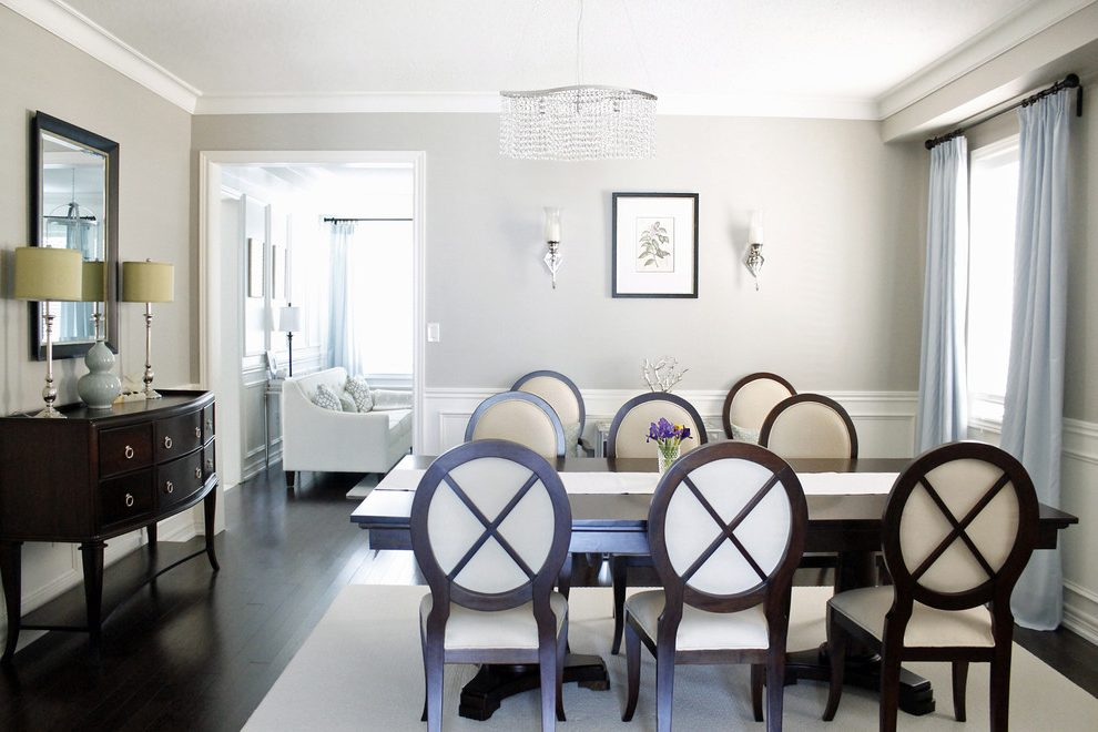 Toronto benjamin moore revere Dining Room Contemporary with home stagers pewter