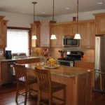 Delightful luxury kitchen cabinets in with eat and recessed lighting
