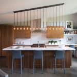 Glorious luxury kitchen cabinets Contemporary Kitchen in New York with tile and island lighting