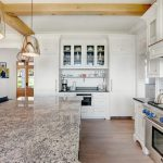 Terrific luxury kitchen cabinets in with glass front and green