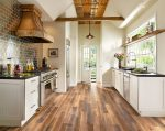 Pretty Black and White Kitchens Photos Kitchen Traditional with Kitchen Island Wood Flooring Ceiling Lighting Marble Range Hood Eat in Stainless Steel Appliances Recessed