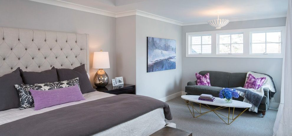 Good-looking hollywood regency bench Transitional Bedroom in Minneapolis with recessed lighting and dining hutch