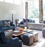 Dishy Benjamin Moore Pewter Revere Transitional Family Room interesting Ideas with Curtain Panels and Seating Area