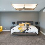 Extraordinary trundle bed frame in with recessed lighting and contemporary chair