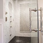 Fabulous marble for bathrooms Modern Bathroom in Kansas City with free standing bath tub and mosaic tile