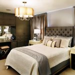Good-Looking grid tufted headboard Traditional Bedroom in Toronto with white bedding and table lamp