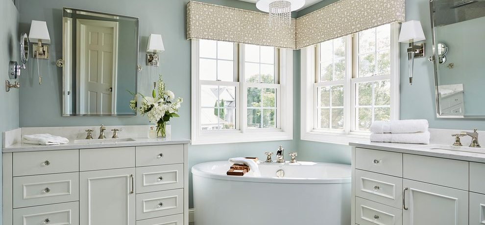 Pleasing home decorators bathroom vanity in with flowers and bath tub caddy