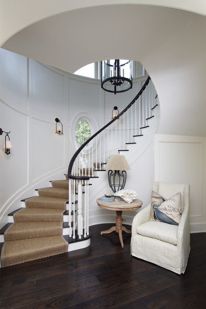 Astonishing Wall Sconces For Beach Style Staircase Decorating | Black And White Stair Railing | Wall | Wrought Iron | Handrail | Victorian | Contemporary