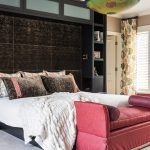 Pleasing slipcovered chaise lounge Transitional Bedroom in Kansas City with and bedroom cabinetry