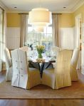 Terrific Velvet Dining Chair Decorating Ideas with Wood Floor and Place Settings