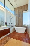 Amazing Pebble Shower Floor Designing Tips with Great Room and Open Plan