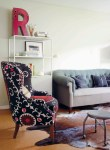 Fabulous Modern Wingback Chairs Living Room Eclectic with Stool On Castors Graphic Letter Tufted Sofa Chesterfield Cowhide Rug Suzani Chair Reading Light
