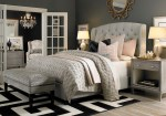 Good-Looking Tufted Bed with Nailhead Trim Bedroom Contemporary Bassett Furniture Upholstered Headboard Bedroom Quality Master Grey and Pink