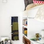 Lovely Built In Bed Bedroom Contemporary With Light Wood Flooring And Red Accents Contemporary Bedroom Kid Loft Bed Desk Light Hardwood Floors Wood Flooring Beds With Bunk Metal Ladder Modern Style