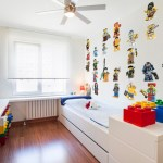 Outstanding Built In Bed Kids Contemporary With Oversized Legos And Built-In Closets Boy Bedroom Boys Built-in Bed Cabinets Built-In Closets Dresser Ceiling Fan Large Legos Lego Wall Decal Mural