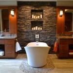 Beautiful Wood Paneling Bathroom Bathroom Contemporary With Double Bathroom Vanity And Double Bathroom Vanity Bathroom Mirror Beige Floor Candle Nook