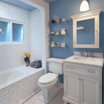 Blooming Shower Curtains Pottery Barn Bathroom Traditional With White Vanity And Blue And White Bathroom Blue And White Bathroom Walls Floor Border