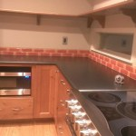 Brilliant Recycled Glass Backsplash Contemporary Fire And Clay Recycled Glass With Glass Tile Backsplash And Black Countertop Black Countertop Fire