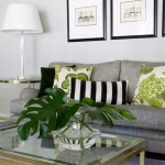 Imaginative Black And Grey Living Room Ideas Living Room Contemporary With Decorative Pillows And Green Accents Button Back Ottoman Chic Living Room