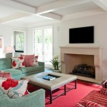 Lovely Decorating With A Red Couch Living Room Traditional With Red Accent And Crown Molding Baseboards Coffered Ceiling Crown Molding Decorative