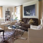 Brilliant Area Rug For Living Room Traditional With Dark Beige Curtains And Jute Area Rug Animal Print Black Curtain Rods Brown Loveseat Dark Beige