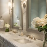 Good-Looking His And Hers Sinks Bathroom Transitional With Double Sink Bathroom And His Hers Bathroom Sink Built In Shower Bench Corner Enclosure