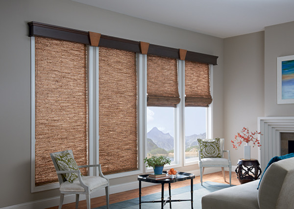 sparkling modern roman shades with