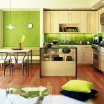 Splendid Olive Green Wall Paint Kitchen Modern With Kitchen Island And Breakfast Bar Accent Color Beautiful Interior Black Chair Counters Kitchen