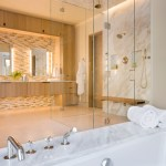 Amazing Teak Shower Bench Bathroom Contemporary With Waterworks Faucet And White Oak Cabinetry Bathroom Storage Cabinets To Ceiling Double Sinks