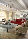 Delightful Blue Sofa Decorating Ideas Living Room Traditional with Decorative Pillows Benjamin Moore Upholstery Wales Gray 1585 Family Room Accessories Roman Shade Chandelier Lounge Chairs Upholstered