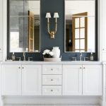Magnificent Grasscloth Wallpaper Bathroom Bathroom Traditional With White Cabinets And White Cabinets Blue Grasscloth Wallpaper Double Vanity Gray