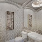 Blooming Toto Promenade Sink Mediterranean Norris/Florida Lifestyle Homes With Chandelier And