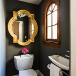 Outstanding Toto Promenade Sink Powder Room Contemporary With Tiny Powder Room And Arched Window