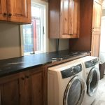 Extraordinary Kraftmaid Laundry Room Cabinets Laundry Room Rustic With Rustic Hickory And Rustic