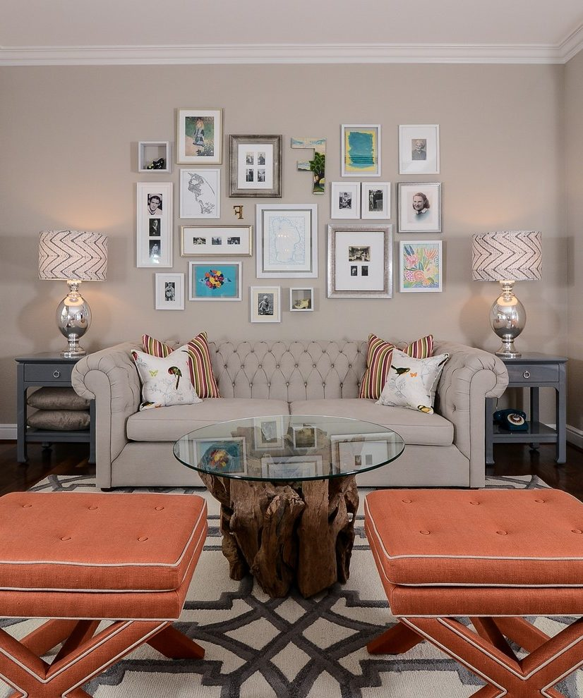 Outstanding Mocha Color Paint Family Room Transitional With Rustic Contemporary And Graphic Area Rug