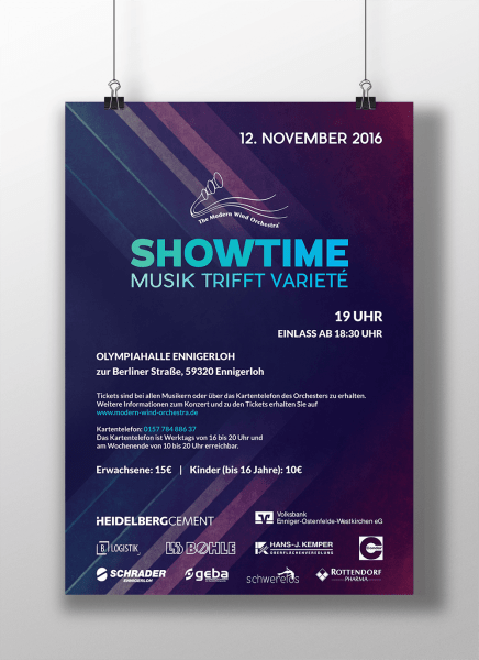 Showtime poster design