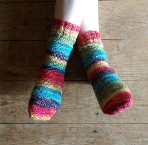 LJ's completed socks.