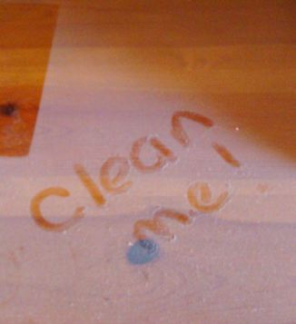 Cleaning.