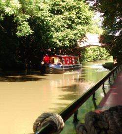 Summertime canal boating.