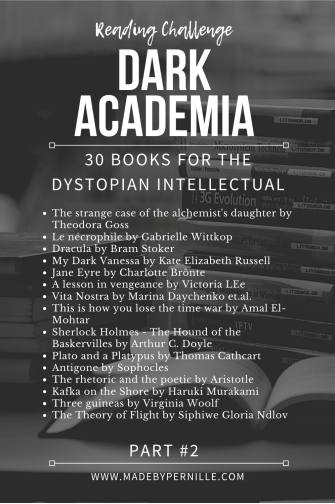 Dark Academia Reading Challenge list of books part 2