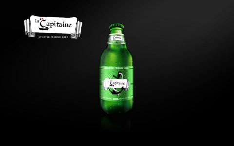 Beer label design La Capitaine