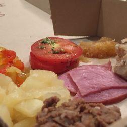 Banana Peppers, Marinated Tomatoes, Roasted Garlic, Pineapple, Ham, Chicken, Steak