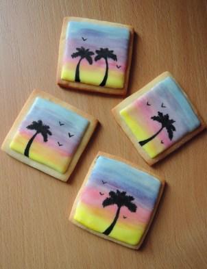 ręcznie malowane palmy